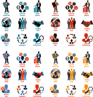 Business people meeting managements icons set of product idea community search optimization isolated vector illustration 60016004186| 写真素材・ストックフォト・画像・イラスト素材|アマナイメージズ