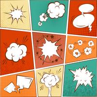 Comic blank text speech bubbles in pop art style set vector illustration 60016004190| 写真素材・ストックフォト・画像・イラスト素材|アマナイメージズ