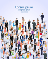 Group of people adult professionals poster vector illustration. 60016004194| 写真素材・ストックフォト・画像・イラスト素材|アマナイメージズ