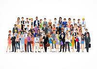 Large group crowd of people adult professionals poster vector illustration 60016004195| 写真素材・ストックフォト・画像・イラスト素材|アマナイメージズ