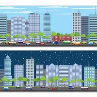 Modern urban building on street cityscape skyline tileable borders set isolated vector illustration 60016004205| 写真素材・ストックフォト・画像・イラスト素材|アマナイメージズ