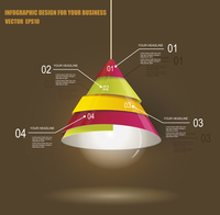 Iinfographic Template with Light bulb