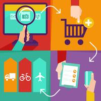 Vector internet shopping infographics 60016004337| 写真素材・ストックフォト・画像・イラスト素材|アマナイメージズ