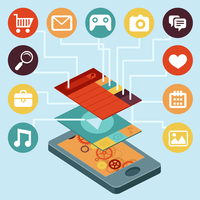 Vector mobile phone  - infographic elements 60016004360| 写真素材・ストックフォト・画像・イラスト素材|アマナイメージズ