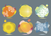Collection of Colorful Speech And Thought Bubbles Background Vector  60016004635| 写真素材・ストックフォト・画像・イラスト素材|アマナイメージズ