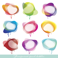 Collection of Colorful Speech And Thought Bubbles Background Vector  60016004636| 写真素材・ストックフォト・画像・イラスト素材|アマナイメージズ