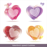 Collection of Colorful Speech And Thought Bubbles Background Vector  60016004638| 写真素材・ストックフォト・画像・イラスト素材|アマナイメージズ