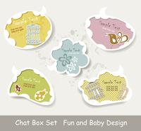 Vector Idea Bulbs. Baby Chat Bubbles  60016004639| 写真素材・ストックフォト・画像・イラスト素材|アマナイメージズ