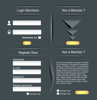Login and register web screens 60016004845| 写真素材・ストックフォト・画像・イラスト素材|アマナイメージズ