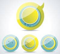 Vector Idea Bulbs. Chat Bubbles . Chat Bubbles  60016004864| 写真素材・ストックフォト・画像・イラスト素材|アマナイメージズ