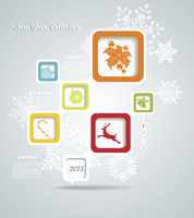 Christmas background with retro bubbles 60016004893| 写真素材・ストックフォト・画像・イラスト素材|アマナイメージズ