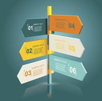 Diagram template of multidirectional pointers on a signpost 60016004963| 写真素材・ストックフォト・画像・イラスト素材|アマナイメージズ