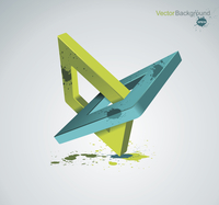 Illustration with orthogonal rhomb symbols.Unity concept.Vector.