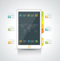 Website design template elements: Smart phone and icons set  60016005356| 写真素材・ストックフォト・画像・イラスト素材|アマナイメージズ