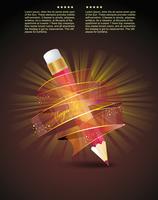 creative template with pencil 60016005375| 写真素材・ストックフォト・画像・イラスト素材|アマナイメージズ