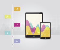 Digital Tablets Infographic Elements, IT Industry Design.