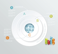 Business Infographics circle style. Can be used for diagram, number or step up options, web design.