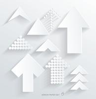 set of white different paper arrows 60016005540  写真素材・ストックフォト・画像・イラスト素材 アマナイメージズ