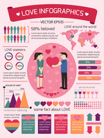 Love infographics elements for valentines day vector illustration