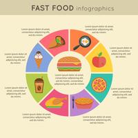 Fast food infographic icons set with pie chart vector illustration 60016006365| 写真素材・ストックフォト・画像・イラスト素材|アマナイメージズ