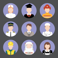 Avatar business users flat icons set of graduate student engineer astronaut isolated vector illustration 60016006377| 写真素材・ストックフォト・画像・イラスト素材|アマナイメージズ