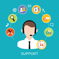 24h all the time customer support center via phone mail operator service icons concept vector illustration 60016006401| 写真素材・ストックフォト・画像・イラスト素材|アマナイメージズ