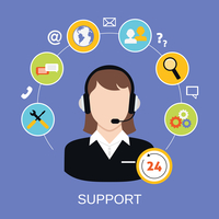 24h online worldwide available customer support helpdesk woman operator service concept vector illustration 60016006405| 写真素材・ストックフォト・画像・イラスト素材|アマナイメージズ