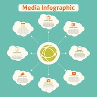 Media global infographics with cloud and communication icons vector illustration 60016006470| 写真素材・ストックフォト・画像・イラスト素材|アマナイメージズ