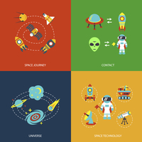 Space icons infographics of universe galaxy journey and technology vector illustration
