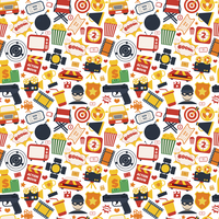 Action movie film cinema professional production seamless pattern vector illustration