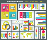 Collection of quality Infographics Design. Vector templates ready to display your data.