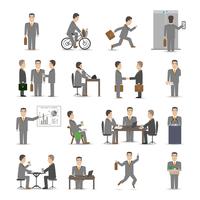 Office business people scenes set vector illustration 60016007112| 写真素材・ストックフォト・画像・イラスト素材|アマナイメージズ