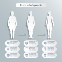 Infographic elements for women fitness and sports of slimness weight loss and healthcare vector illustration
