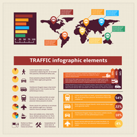Transport traffic infographics elements for charts and graphs vector illustration