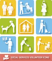 Social help services and volunteer work icons set flat isolated vector illustration 60016007165| 写真素材・ストックフォト・画像・イラスト素材|アマナイメージズ