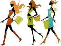 shopping girls 60016007226| 写真素材・ストックフォト・画像・イラスト素材|アマナイメージズ