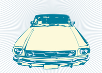 Stylish vector  illustartion of  the retro Car