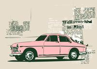 Vector Illustration of old vintage custom collector's car