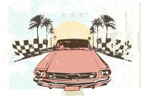 Vector illustration - High speed racing car on grunge background 60016007647| 写真素材・ストックフォト・画像・イラスト素材|アマナイメージズ