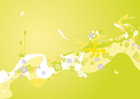 Colorful spring decoration.   abstract  Spring flower background