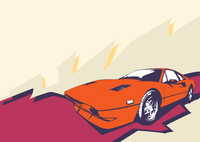 Vector Illustration of old vintage custom collector's car