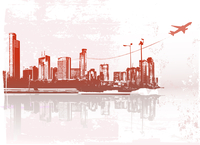 Big City - Grunge styled urban background.  Vector illustration.
