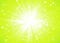Vector illustration of Green Abstract background with light rays and burst of stars 60016007714| 写真素材・ストックフォト・画像・イラスト素材|アマナイメージズ