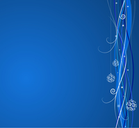 Blue Christmas background: composition of curved lines and snowflakes - great for backgrounds, or layering over other images 60016007735| 写真素材・ストックフォト・画像・イラスト素材|アマナイメージズ