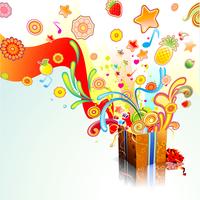 Vector illustration of funky exploding gift surprise 60016007769| 写真素材・ストックフォト・画像・イラスト素材|アマナイメージズ
