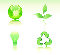 Vector illustration of Environmental Conservation icon set
