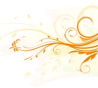 Vector illustration of orange Grunge Floral Background 60016007786| 写真素材・ストックフォト・画像・イラスト素材|アマナイメージズ