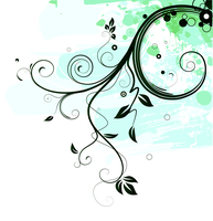 Vector illustration of Grunge Floral Background 60016007791  写真素材・ストックフォト・画像・イラスト素材 アマナイメージズ