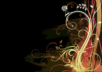 Vector illustration of Grunge Floral Background 60016007807  写真素材・ストックフォト・画像・イラスト素材 アマナイメージズ