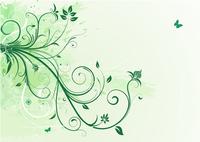 Vector illustration of green Grunge Floral Background 60016007813  写真素材・ストックフォト・画像・イラスト素材 アマナイメージズ